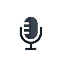 Old microphone - audio record icon - musical vector