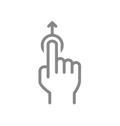 One-touch and swipe up line icon touch screen vector