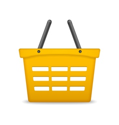 Orange Shopping Basket vector image
