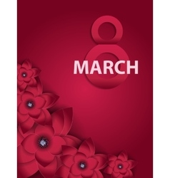 Poster international happy women s day 8 march vector