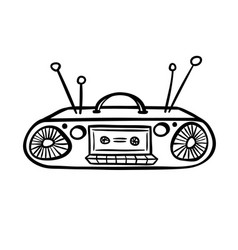 retro device - old tape recorder vector image