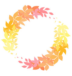 round autumn wreath made of leaves the object is vector image