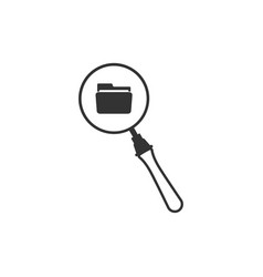 search concept with folder icon isolated vector image