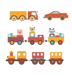 set clip art construction machinery of toys vector image