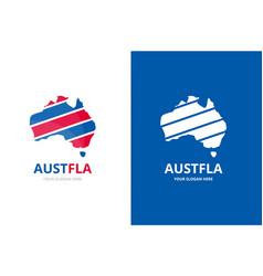 set of australia logo combination oceania vector image