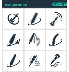 Set of modern icons Mascara brush mascara vector image
