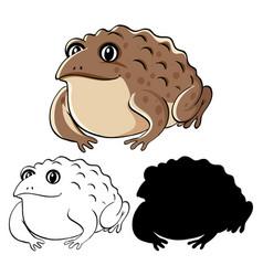 set toad cartoon vector image