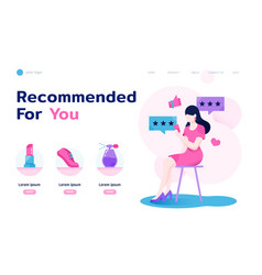sheconomy landing page layout vector image