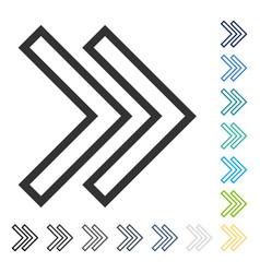 shift right icon vector image