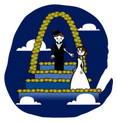 Skeleton wedding vector