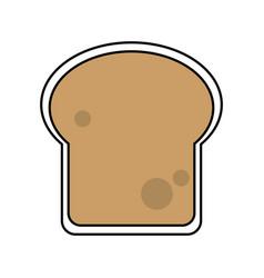 Sketch color silhouette slice of bread vector
