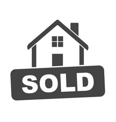 sold house flat vector image