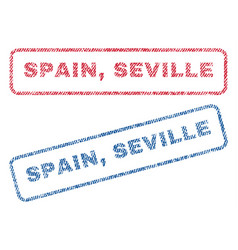 Spain seville textile stamps vector