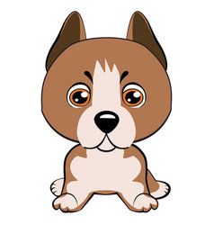 staffordshire terrier dog vector image