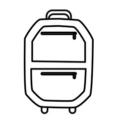 suitcase isolated symbol vector image