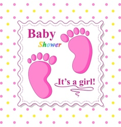 Sweet Baby Shower Card vector
