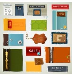 Textile labels set vector