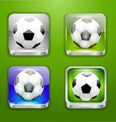 The app icons-soccer ball vector