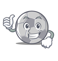 thumbs up football character cartoon style vector image