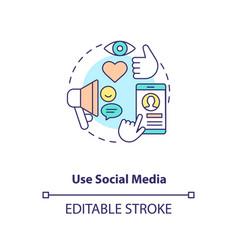 Use social media concept icon vector