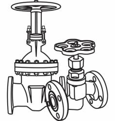 valve vector image