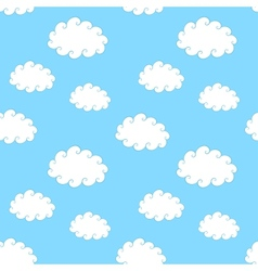 Vintage Clouds Seamless Pattern vector image