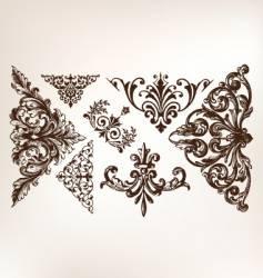 Vintage grunge design motifs vector