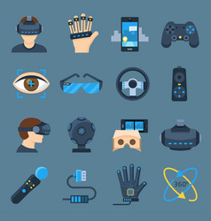 Virtual reality device set vector