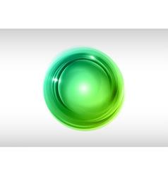 Abstract circle green vector