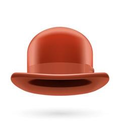 Brown bowler hat vector image vector image
