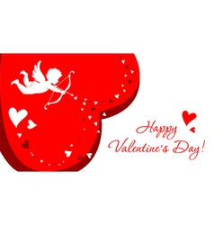 Greeting card with angel for Valentines Day vector image vector image