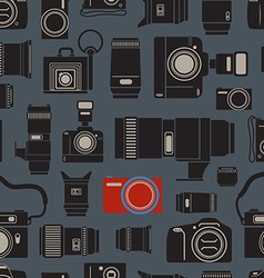 Modern and retro photo technics seamless vector image vector image