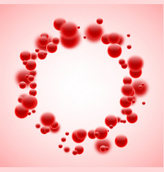 round background with red bubbles vector image vector image