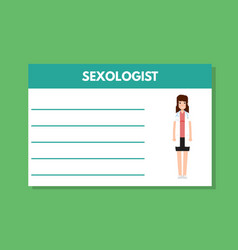 about doctor sexologist template medical vector image vector image