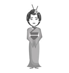beautiful geisha japan character vector image