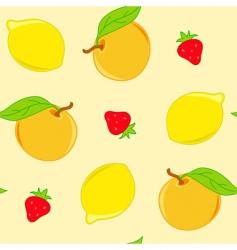 citrus pattern vector image vector image