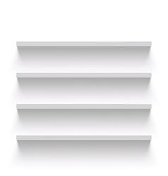 Empty shelves Stock vector image