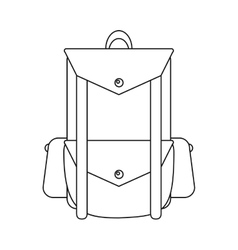 Outline backpack travel hiking equipment camping vector