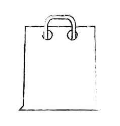 blurred silhouette cartoon bag for shopping with vector image vector image