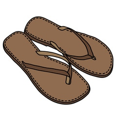 Leather sandals vector image vector image