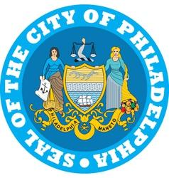 Philadelphia city seal vector image vector image