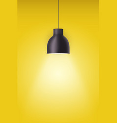 retro metal stylish ceiling cone lamp vector image