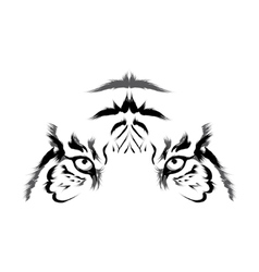 Tiger head outline vector image