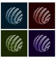 Abstract Globe vector image