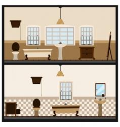 bathroom design vector image