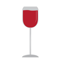 isolated wine cup vector image