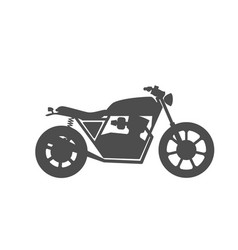 motorcycle icon or sign vector image