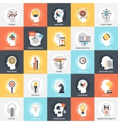 Personal Skills Icons vector image vector image