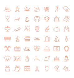 49 holiday icons vector image
