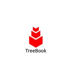 abstract book logo design template vector image